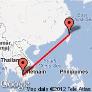 Phnom Penh (Phnom Penh International, PNH) - Taipei (Taiwan Taoyuan International, TPE)