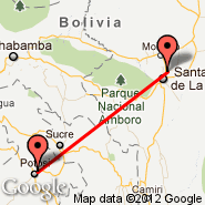 Potosi (Capitan Nicolas Rojas, POI) - Santa Cruz (Viru Viru Intl, VVI)