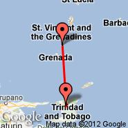 Port-of-Spain (Piarco International, POS) - Carriacou (Carriacou Is, CRU)