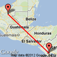 Palenque (Palenque International Airport, PQM) - Managua (Augusto C Sandino, MGA)