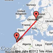 Prag (Prague - Ruzyne International, PRG) - Agadir (Agadir Almassira, AGA)