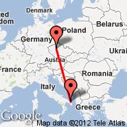 Prague (Prague - Ruzyne International, PRG) - Brindisi (Papola Casale, BDS)