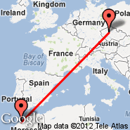Praga (Prague - Ruzyne International, PRG) - Casablanca (Anfa, CAS)