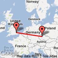 Prag (Prague - Ruzyne International, PRG) - London (Metropolitan Area, LON)