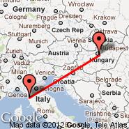 Pisa (Galileo Galilei, PSA) - Budimpešta (Ferihegy, BUD)