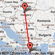Preveza (Aktion, PVK) - Budimpešta (Ferihegy, BUD)