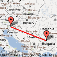 Pleven (Dolna Mitropolia AB (12th Training Air Base), PVN) - Ljubljana (Brnik, LJU)