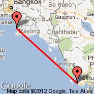 Pattaya (PYX) - Sihanoukville (Sihanoukville International Airport, KOS)