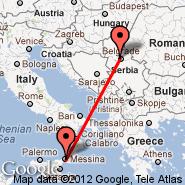 Messina (QME) - Beograd (Nikola Tesla, BEG)