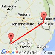 Mbabane (QMN) - Bloemfontein (J.B.M. Hertzog, BFN)