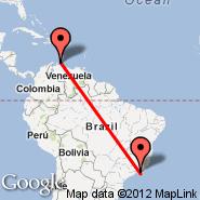 Rio de Janeiro (Metropolitan Area, RIO) - Curacao (Hato International Airport, CUR)