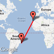 Rio de Janeiro (Metropolitan Area, RIO) - Gran Canaria (Gran Canaria International (Gando Airport), LPA)