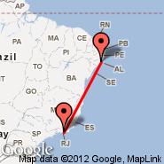 Rio de Janeiro (Metropolitan Area, RIO) - Maceio (Palmares, MCZ)
