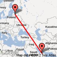 Riga (Riga International, RIX) - Abu Dhabi (Abu Dhabi International, AUH)