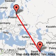 Riga (Riga International, RIX) - Doha (Doha International Airport, DOH)