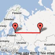 Riga (Riga International, RIX) - Izhevsk (IJK)