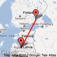 Riga (Riga International, RIX) - Lappeenranta (LPP)