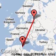 Riga (Riga International, RIX) - Monastir (Habib Bourguiba, MIR)