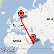 Riga (Riga International, RIX) - Socotra (Socotra International Airport, SCT)