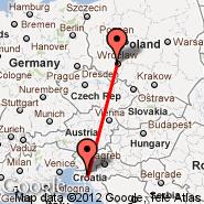Rijeka/Krk (Rijeka, RJK) - Wroclaw (Copernicus Airport, WRO)