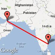 Ras al-Khaimah (Ras Al Khaimah, RKT) - Chennai (Madras International, MAA)