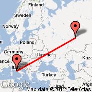 Rim (Metropolitan Area, ROM) - Izhevsk (IJK)