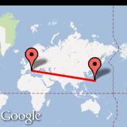 Rim (Metropolitan Area, ROM) - Iwo Jima (Iwo Jima Airbase, IWO)