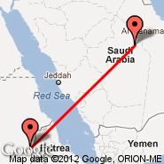 Riyadh (King Khaled Intl, RUH) - Kassala (KSL)
