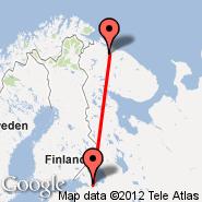 St Petersburg (Rzhevka, RVH) - Murmansk (Murmansk Airport Murmashi, MMK)