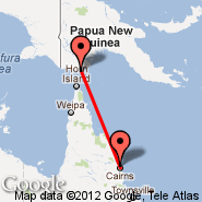 Saibai Island (SBR) - Cairns (Cairns International Airport, CNS)
