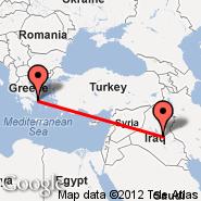 Bagdad (Baghdad International, SDA) - Atene (Eleftherios Venizelos, ATH)