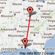 Louisville (Louisville International, SDF) - Pensacola (Regional, PNS)