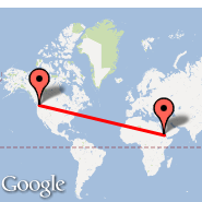 Seattle (Seattle-Tacoma International, SEA) - Asmara (Yohannes IV, ASM)