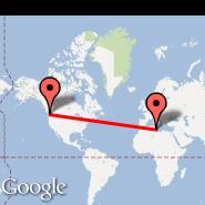 Seattle (Seattle-Tacoma International, SEA) - Tripoli (International, TIP)