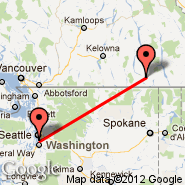 Seattle (Seattle-Tacoma International, SEA) - Castlegar (YCG)