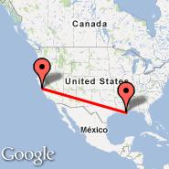 San Francisco (San Francisco International, SFO) - New Orleans (Louis Armstrong New Orléans International Airport, MSY)