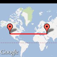 San Francisco (San Francisco International, SFO) - Urmieh (Urmieh, OMH)