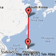Šangaj (Hongqiao, SHA) - Manila (Ninoy Aquino Intl, MNL)