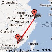 Šanghaj (Hongqiao, SHA) - Meixian (MXZ)