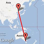 Shenyang (Taoxian International Airport, SHE) - Melbourne (Tullamarine, MEL)