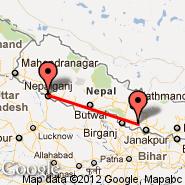 Simra (Simara, SIF) - Nepalganj (KEP)
