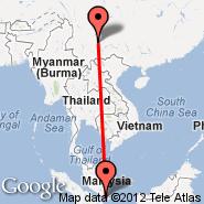 Singapur (Changi, SIN) - Kunming (Wujiaba International Airport, KMG)