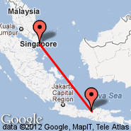 Singapur (Changi, SIN) - Semarang (Achmad Yani, SRG)