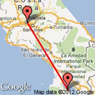 San Jose (Juan Santamaría International, SJO) - Puerto Jiminez (Puerto Jimenez, PJM)