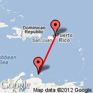 San Juan (Luis Munoz Marin Intl, SJU) - Curacao (Hato International Airport, CUR)
