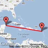 Saint Kitts (Robert L Bradshaw International, SKB) - Cancun (Cancún International, CUN)