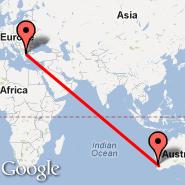 Solun (Macedonia International, SKG) - Perth (Perth International, PER)