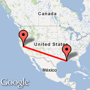 Sacramento (Sacramento International, SMF) - New Orleans (Louis Armstrong New Orléans International Airport, MSY)