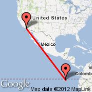 Santa Ana (John Wayne, SNA) - Galapaški otoki (Baltra, GPS)