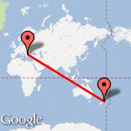 Sofija (Sofia International (Vrajdebna, Vrazhdebna), SOF) - Wellington (Wellington International, WLG)